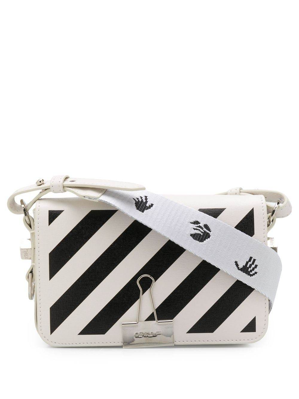 OFF-WHITE mini flap bag white/black