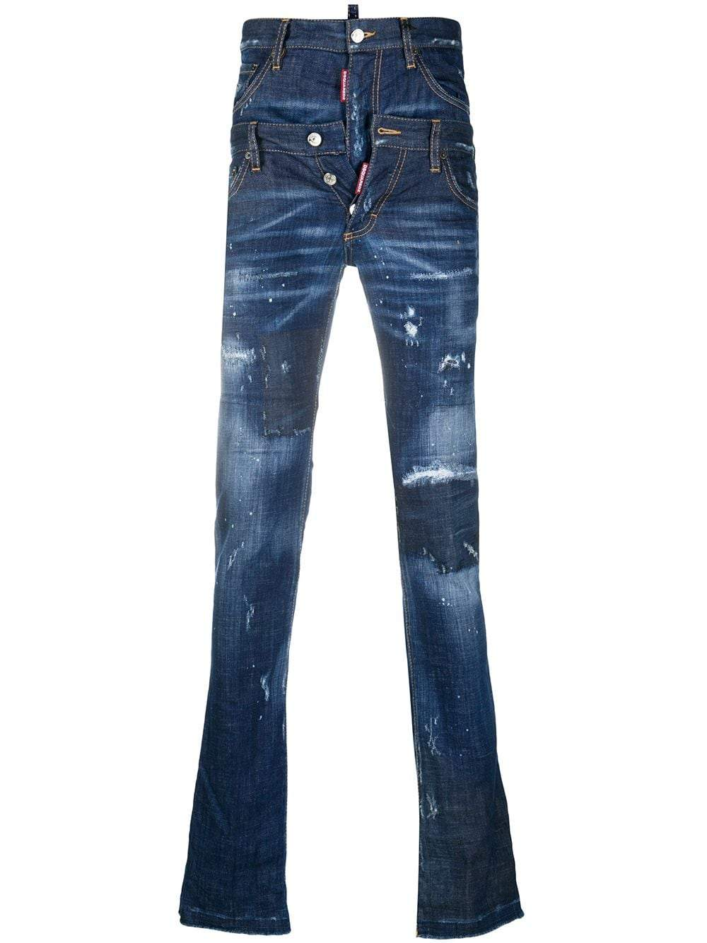 DSQUARED2 Double Waistband Skinny Jeans
