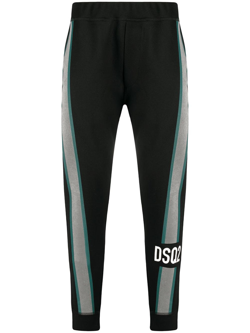 DSQUARED2 Reflective Stripe DSQ Track Pants Black