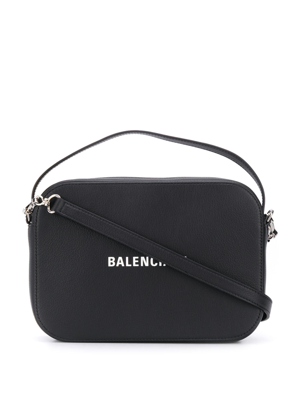 "BALENCIAGA ""S"" logo camera bag black"