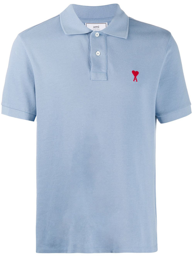 AMI De Coeur Logo Polo Shirt Blue