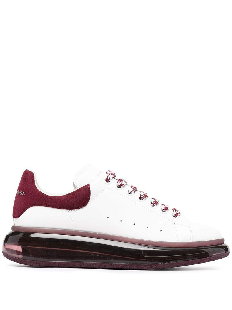 ALEXANDER MCQUEEN Oversized Sole Sneakers White/Bordeaux