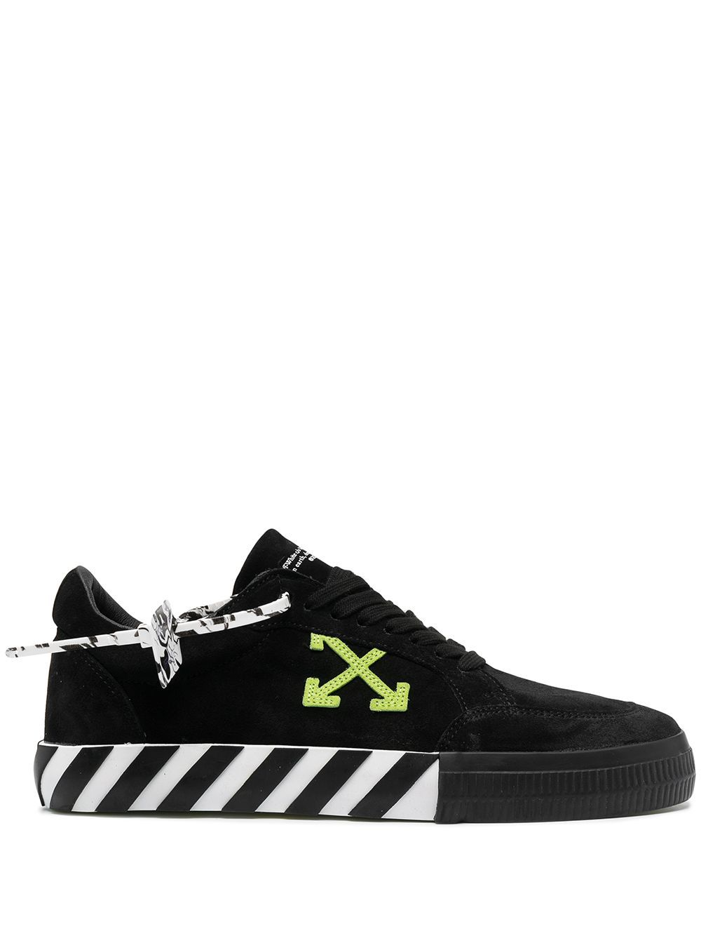 OFF-WHITE Low Vulcanized Suede Sneakers Black/Green