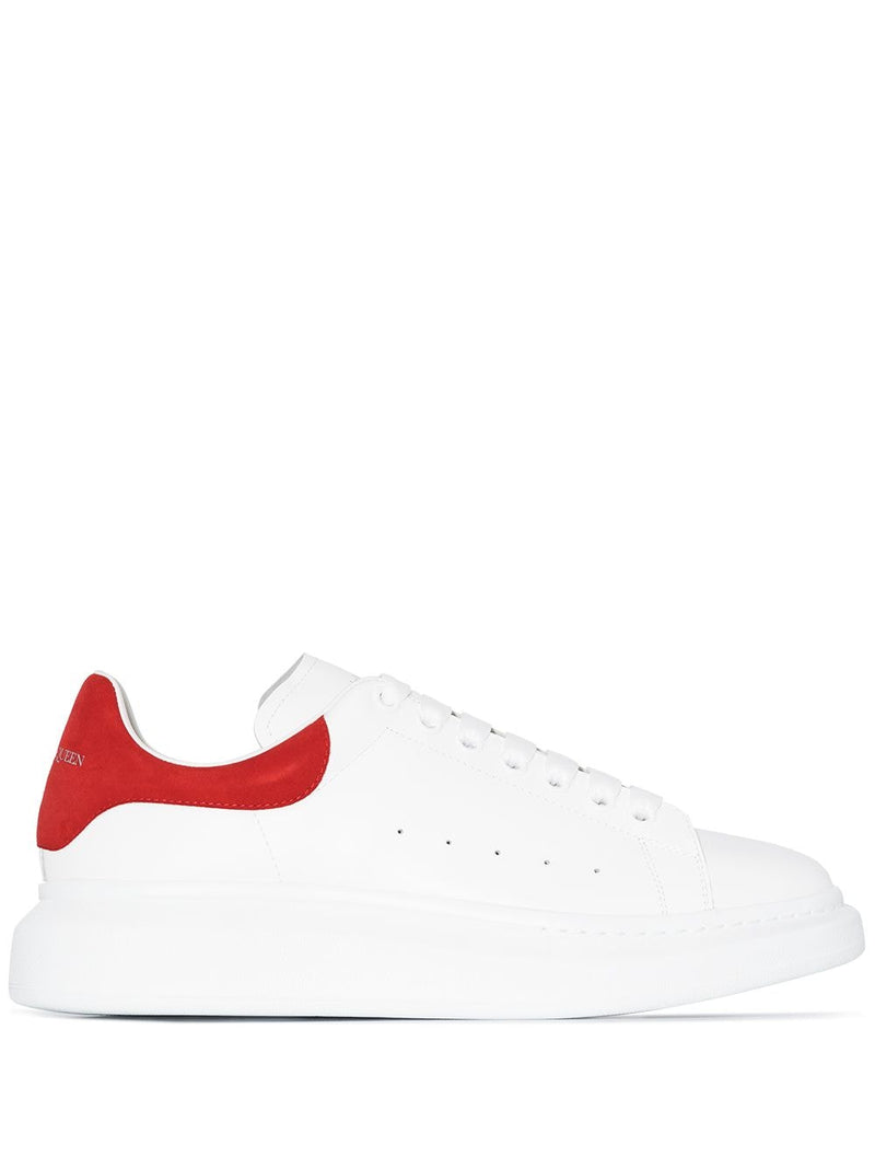 ALEXANDER MCQUEEN oversized sole sneakers White/Red