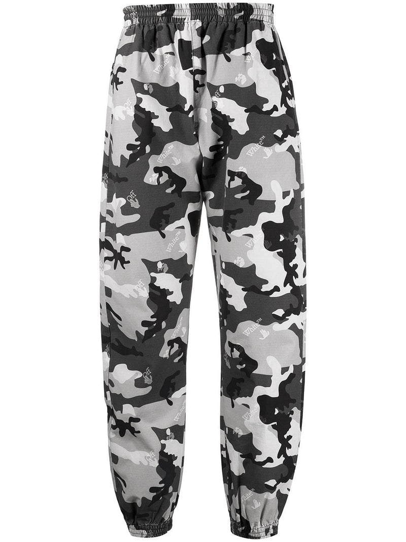 OFF-WHITE Camo Print Trousers Grey