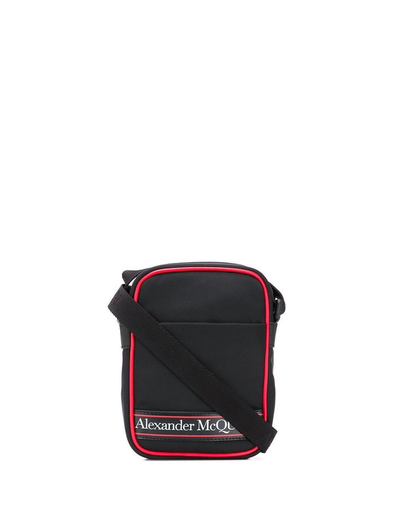 ALEXANDER MCQUEEN logo mini messenger bag black
