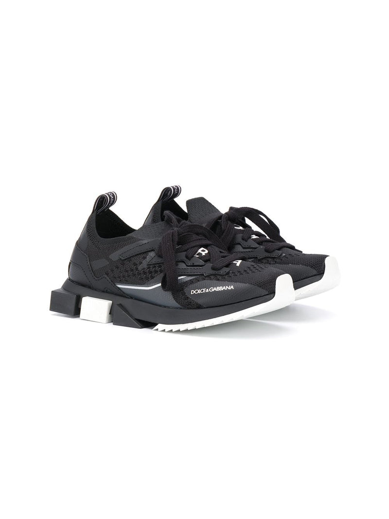 DOLCE & GABBANA KIDS X Gen Lace Up Sneakers Black