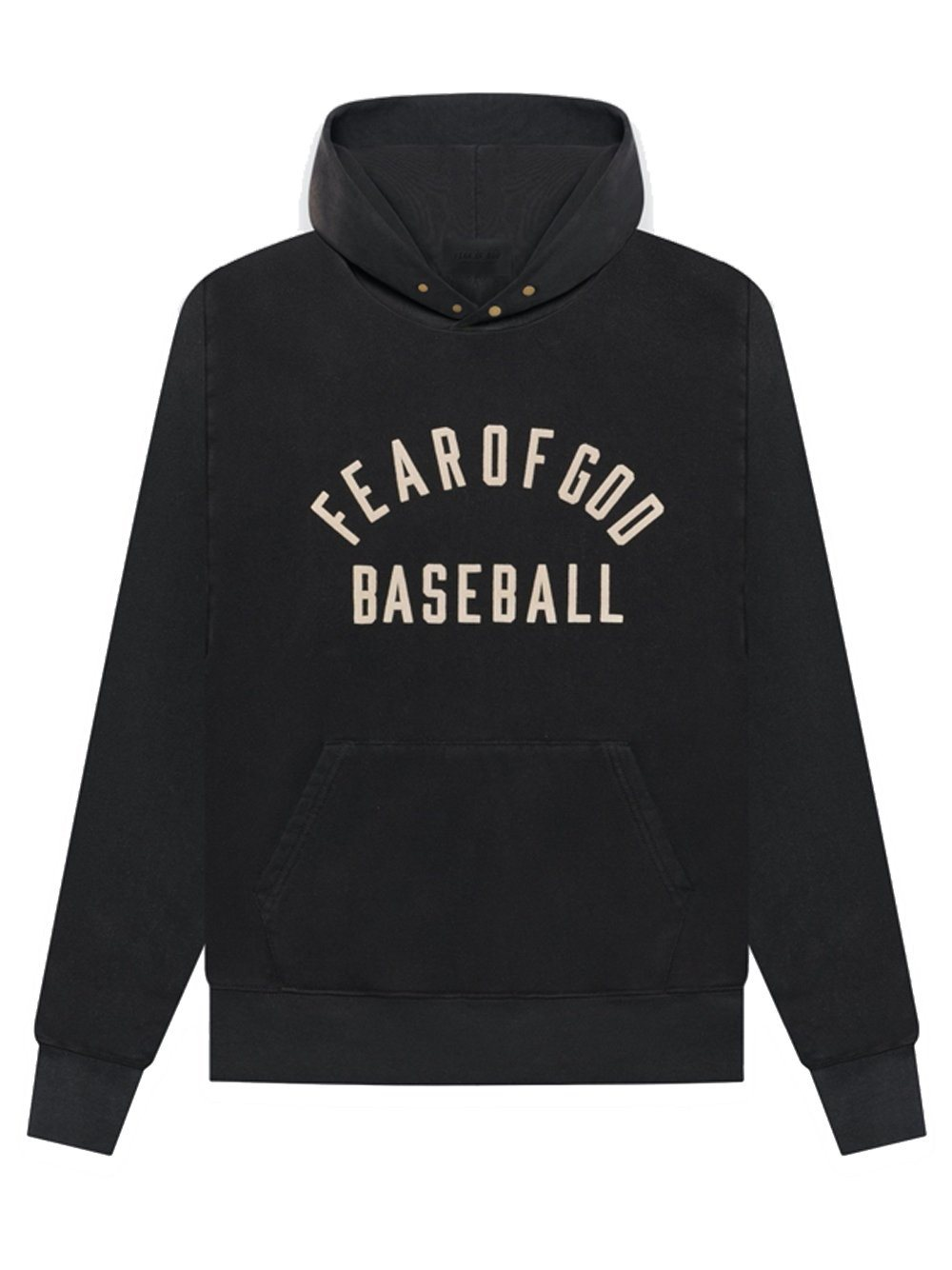 FEAR OF GOD Baseball Logo Hoodie Black