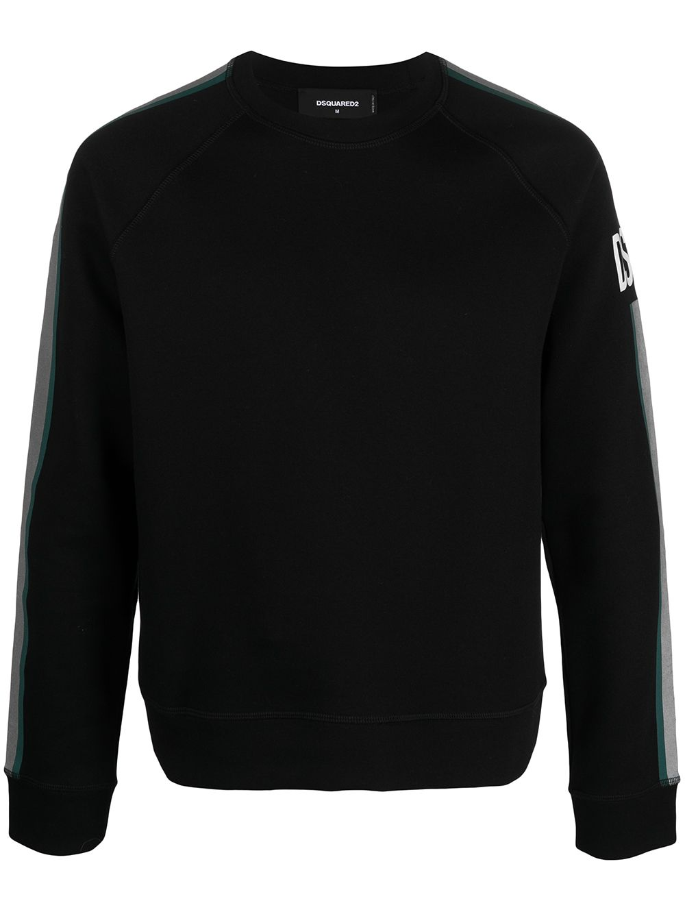 DSQUARED2 Logo Reflective Stripe Sweatshirt Black