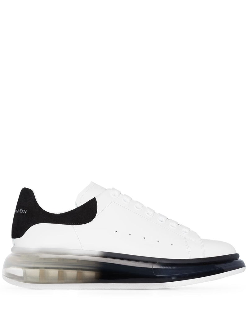 Alexander McQueen oversized clear sole airbrush sneaker white