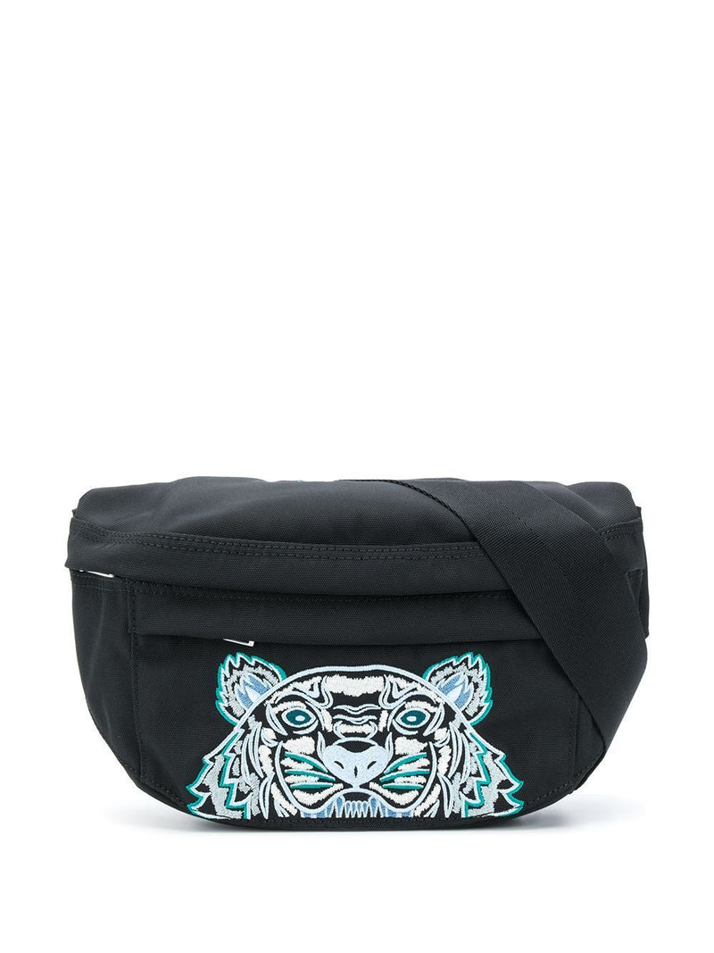 Kenzo Tiger Embroidered Belt Bag Black