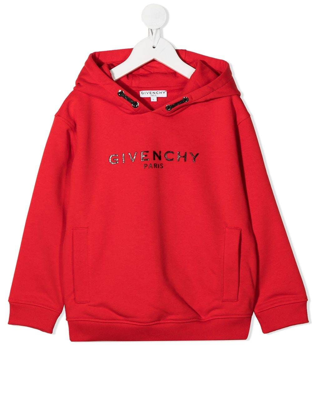 GIVENCHY KIDS Cracked Logo Sweatshirt Red