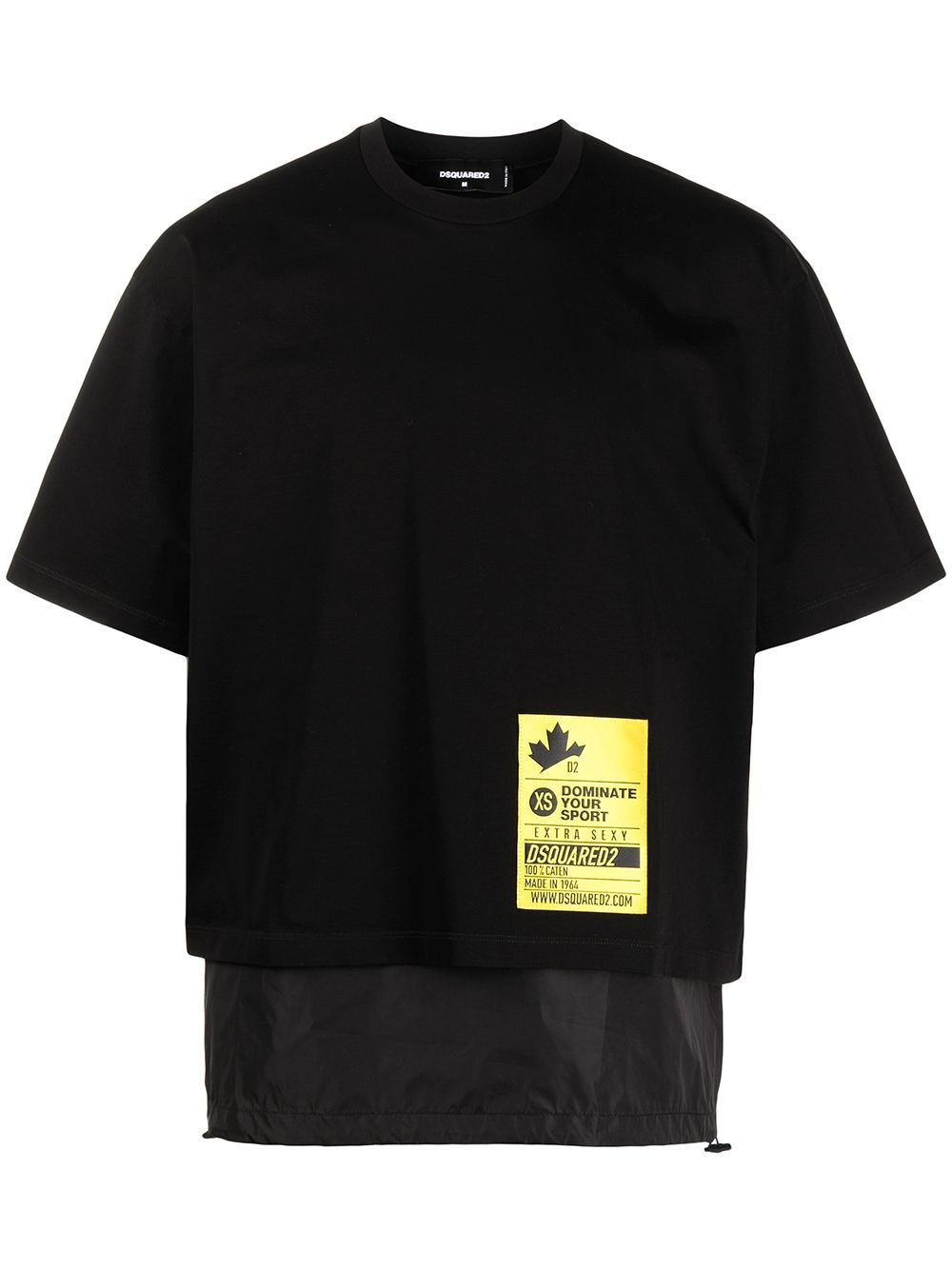DSQUARED2 Logo Patch Removable Panel T-Shirt