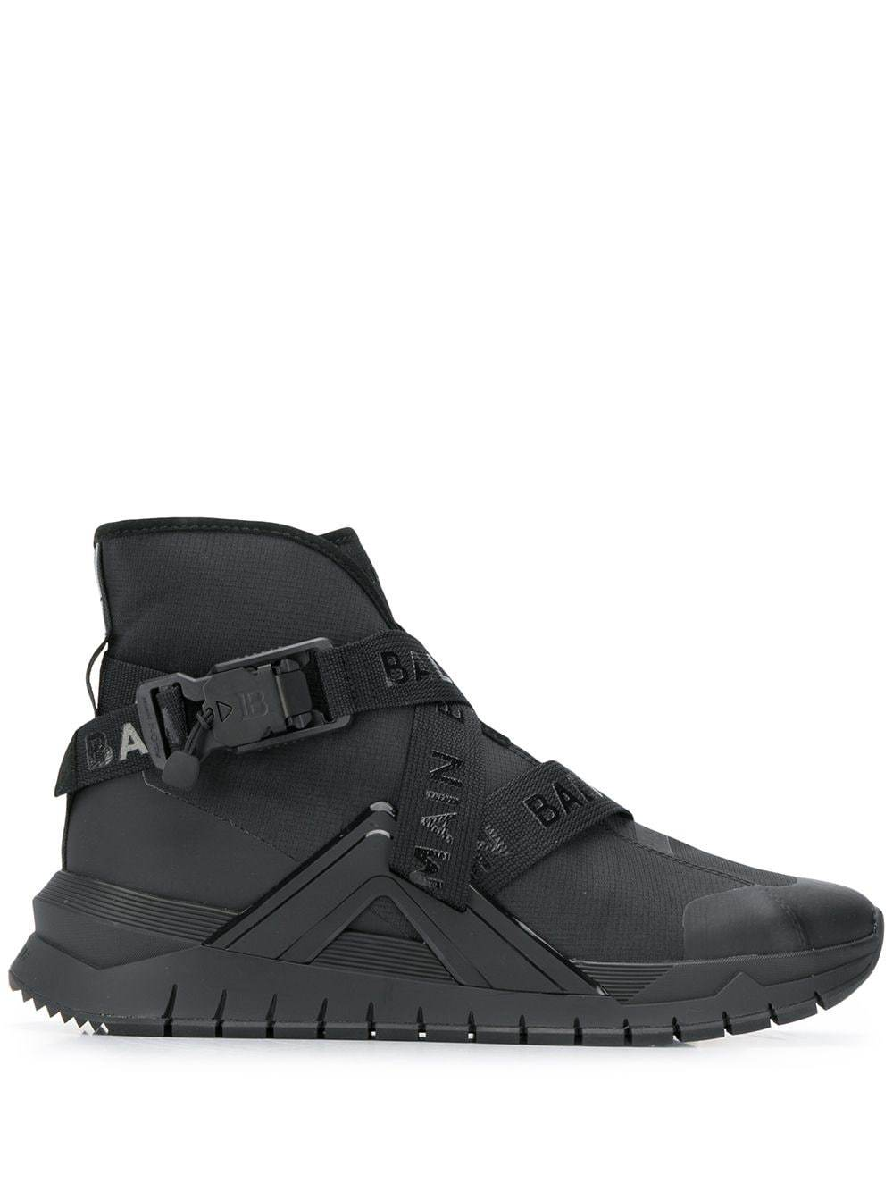 BALMAIN B-Troop High Top Sneakers Black - Maison De Fashion