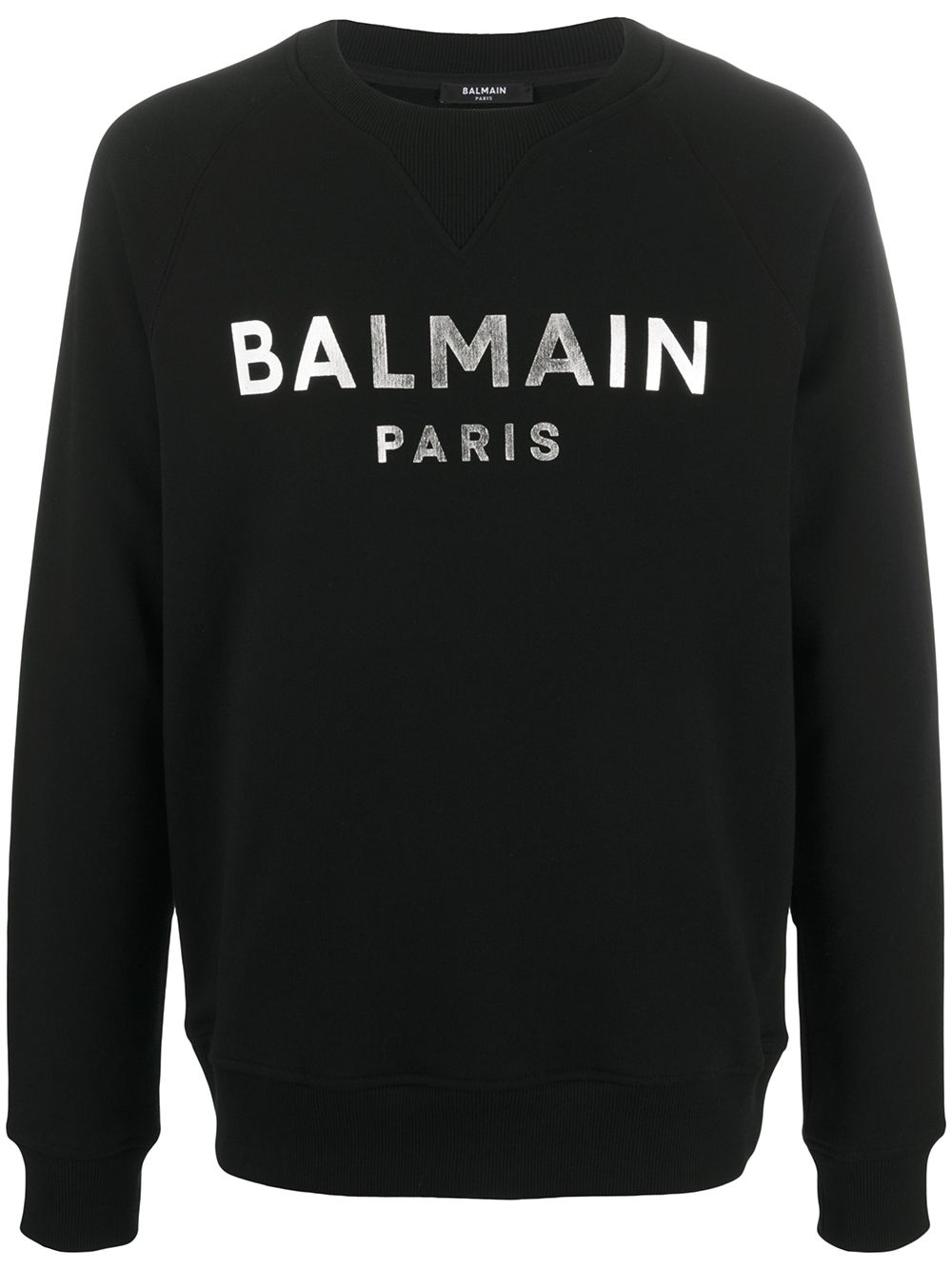 BALMAIN filed logo sweatshirt Black/Silver