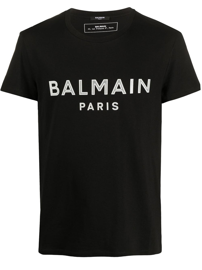 BALMAIN gel logo t-shirt black/white
