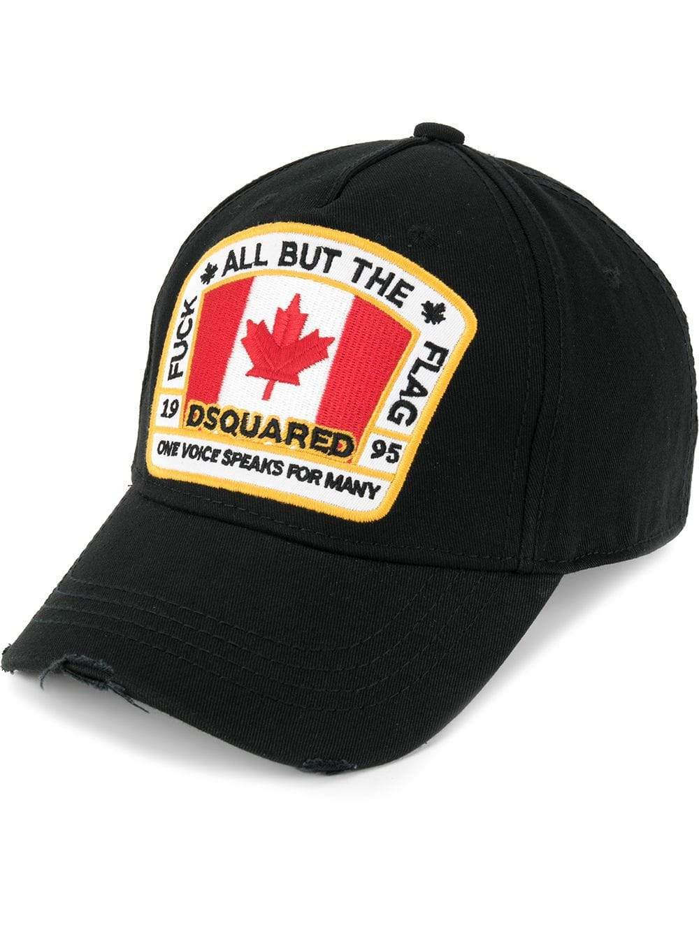 DSQUARED2 canadian patch baseball cap Black - Maison De Fashion