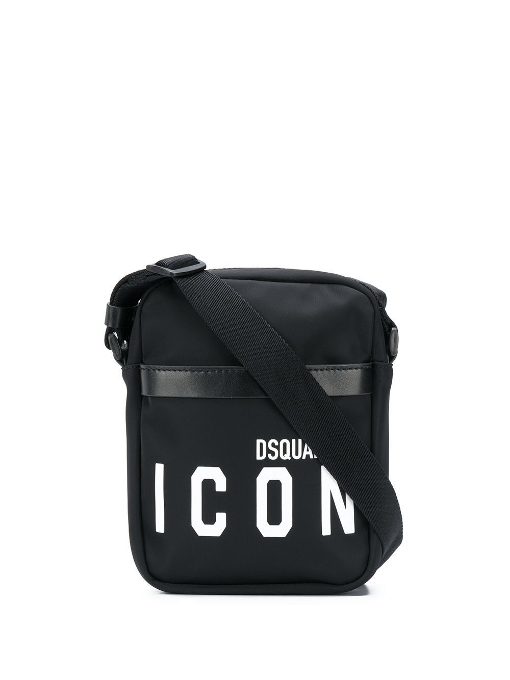 DSQUARED2 Icon Logo Messenger Bag Black/White