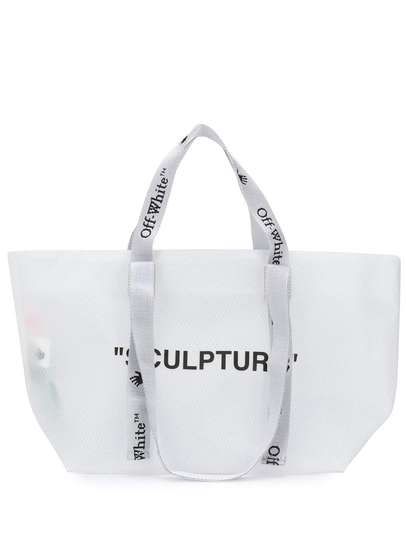 OFF-WHITE Sculpture Small Tote Bag White/Black