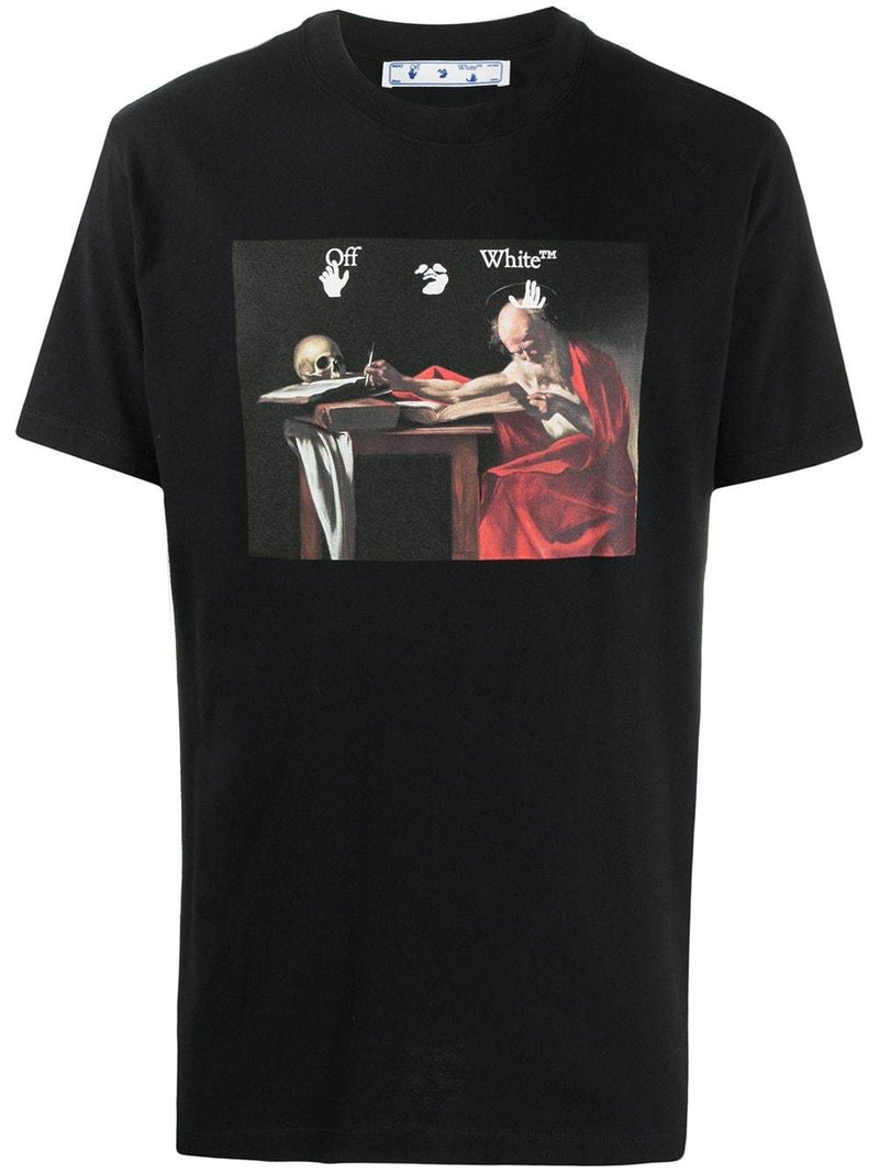 OFF-WHITE Caravaggio Print T-Shirt Black/Red