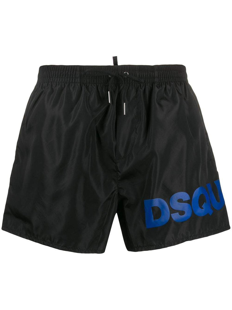 DSQUARED2 printed swimming trunks black/blue