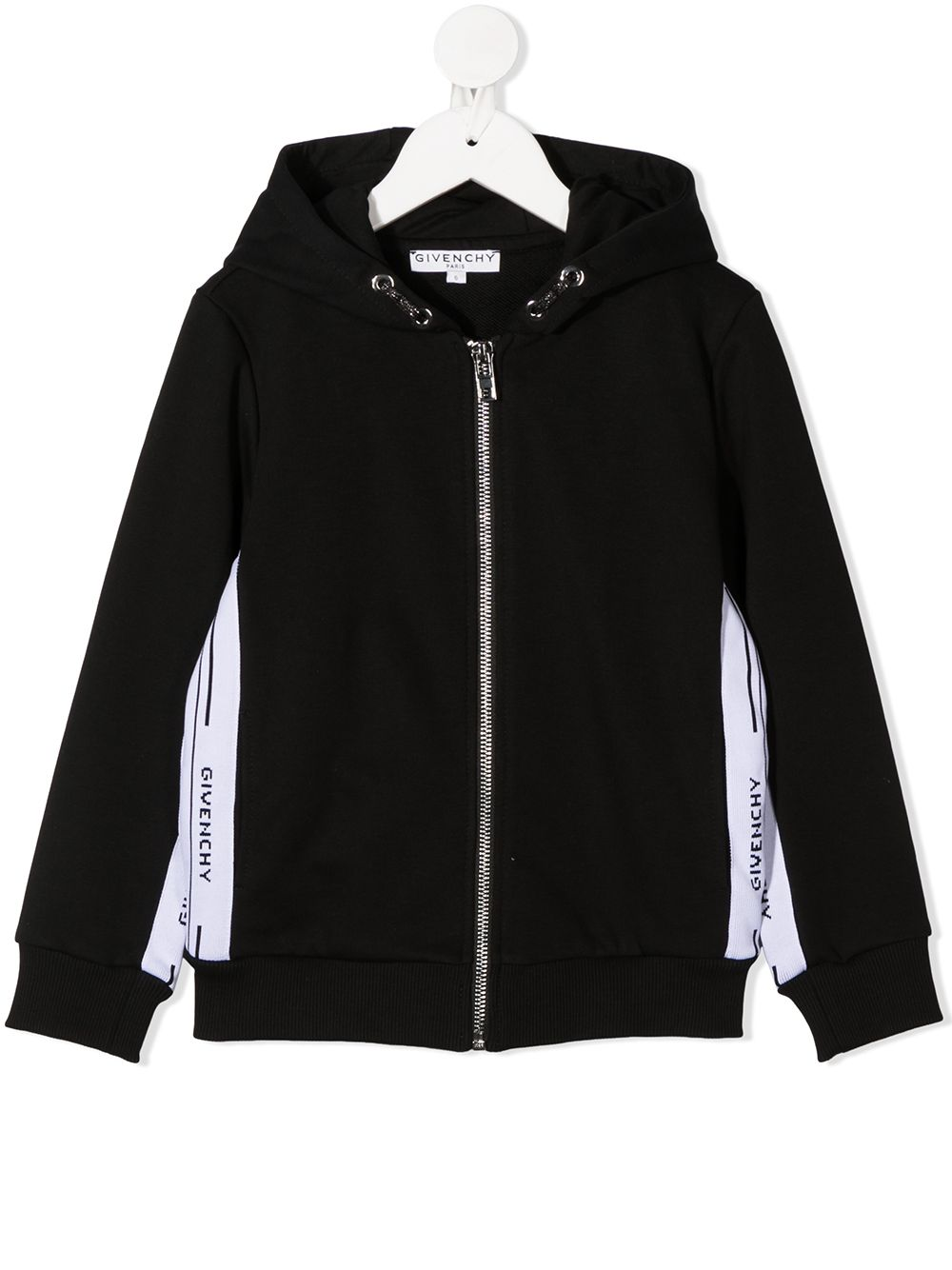 GIVENCHY KIDS Branded Long-Sleeve Hoodie Black - Maison De Fashion