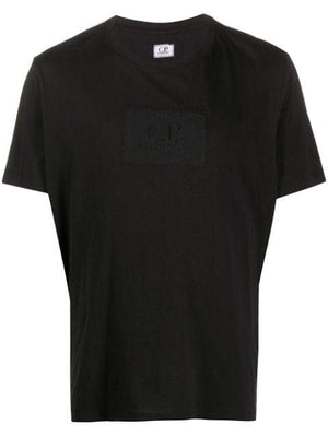 C.P. COMPANY embroidered logo t-shirt black