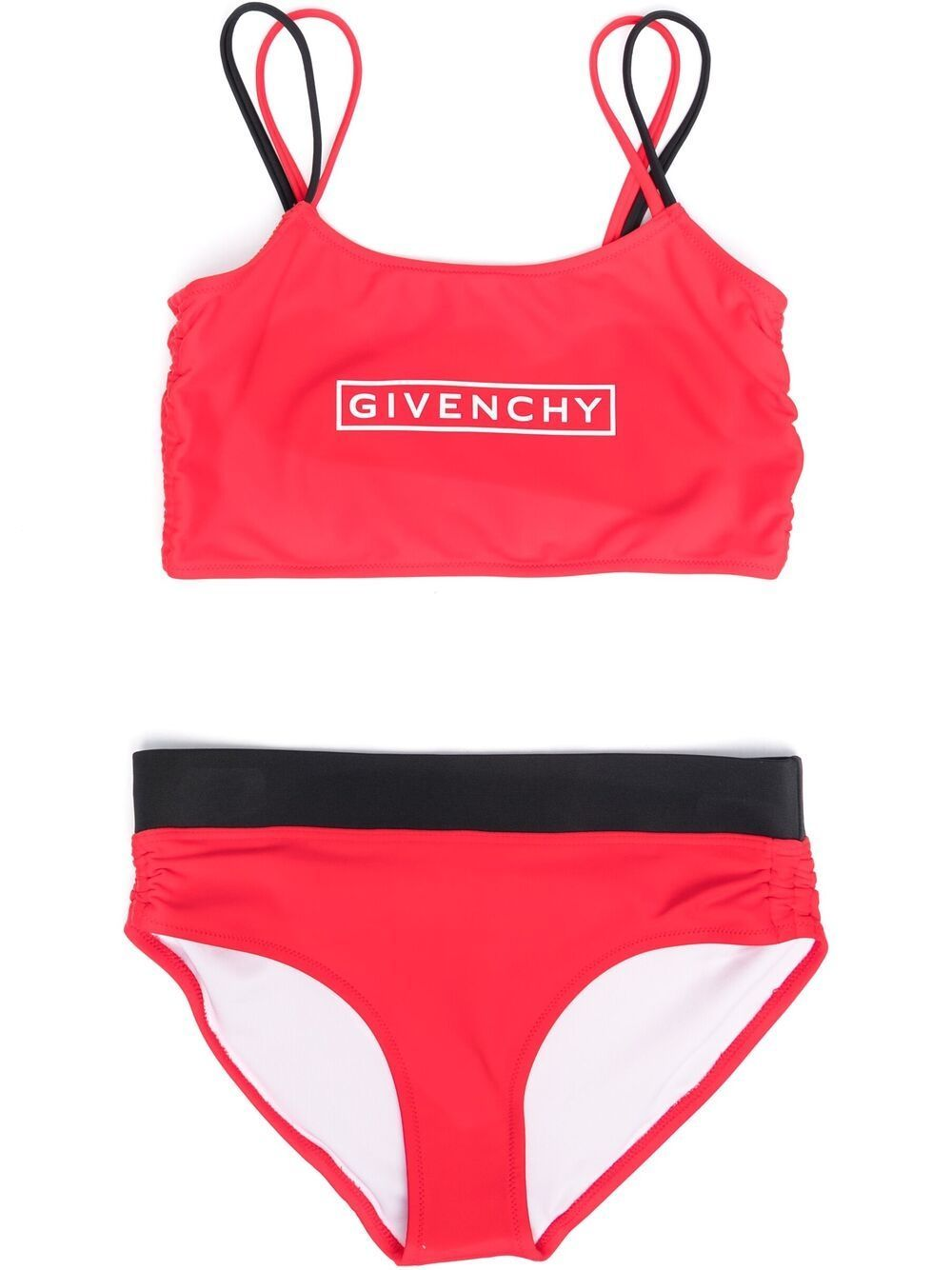 GIVENCHY KIDS Logo Bikini Red