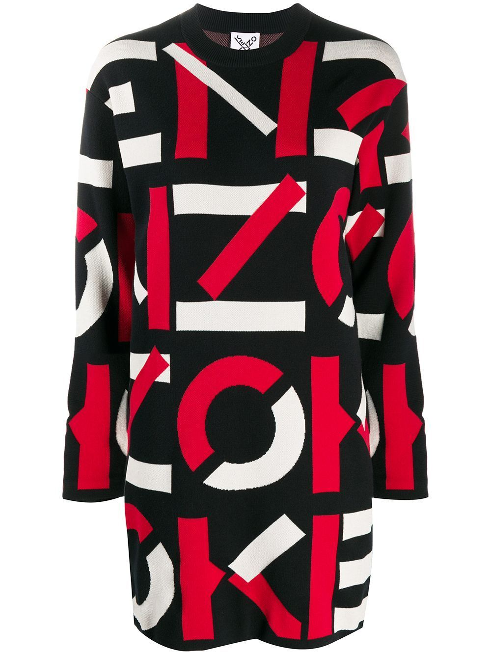 KENZO WOMEN All Over Logo Dress Navy