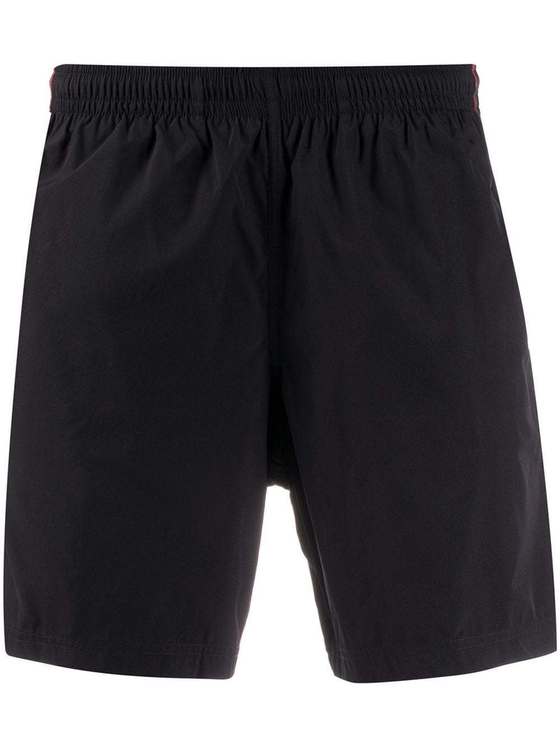 Alexander McQueen tape logo swim shorts black