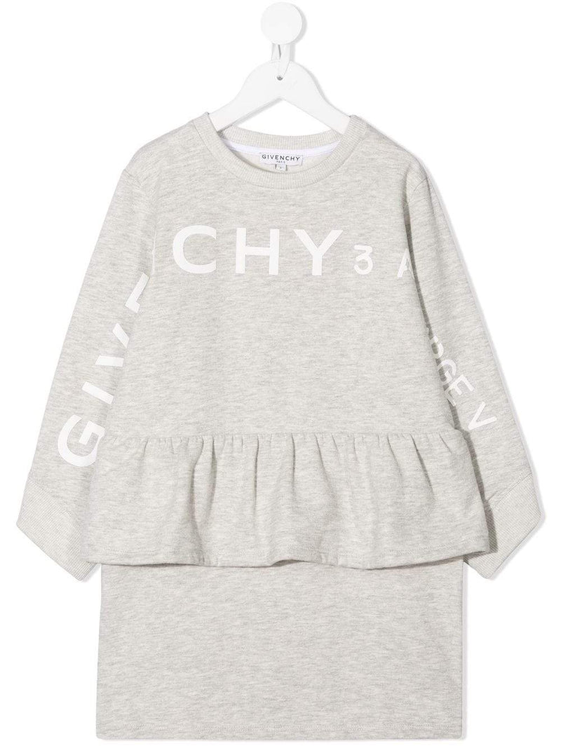 GIVENCHY KIDS 3 Logo Sweatshirt Grey - Maison De Fashion