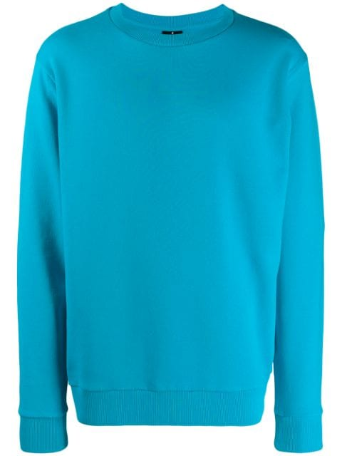 Marcelo Burlon patch wings turquoise sweatshirt