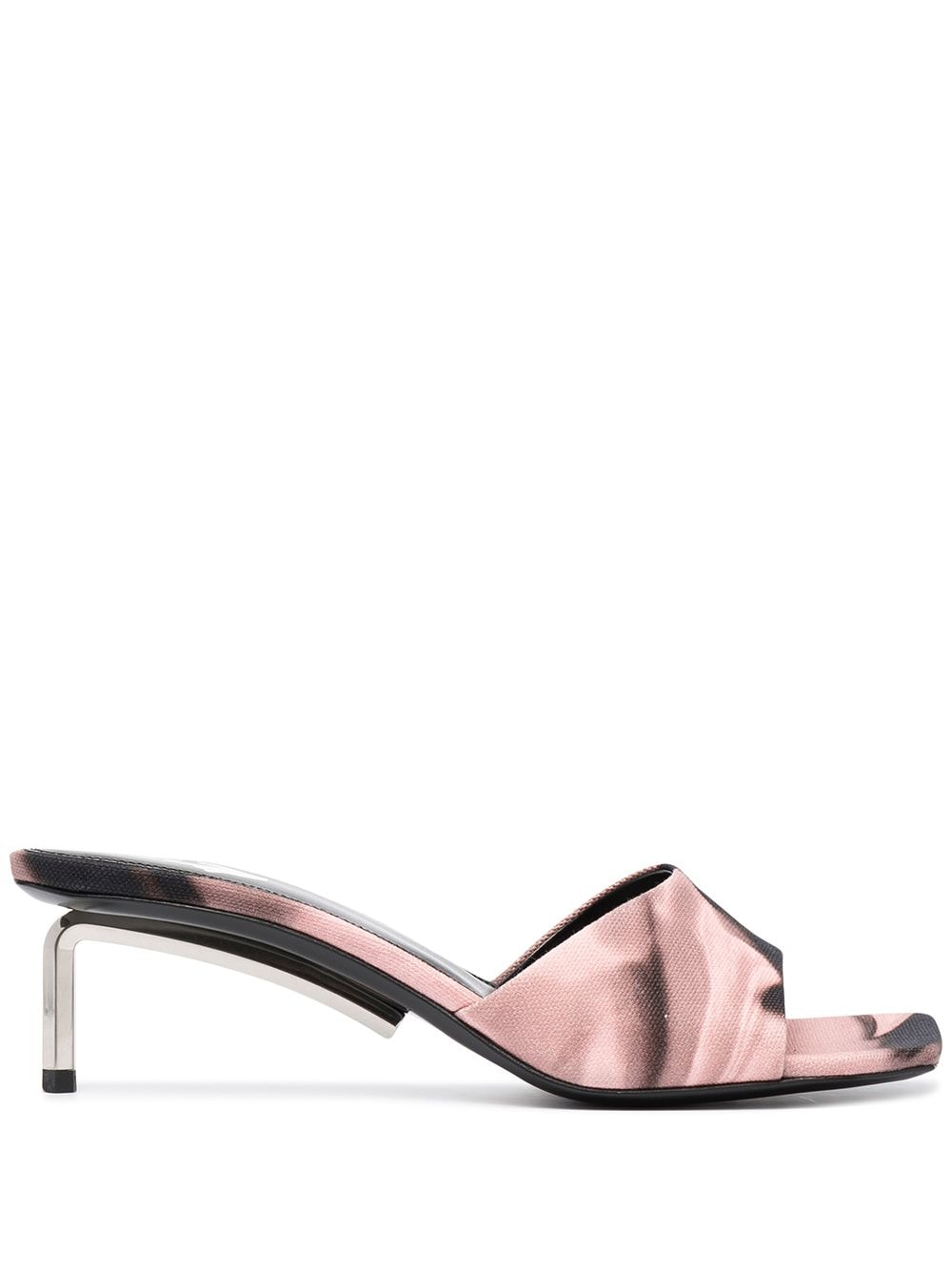 Off-White Women's Liquid Melt Open Toe Mule Sandal Pink