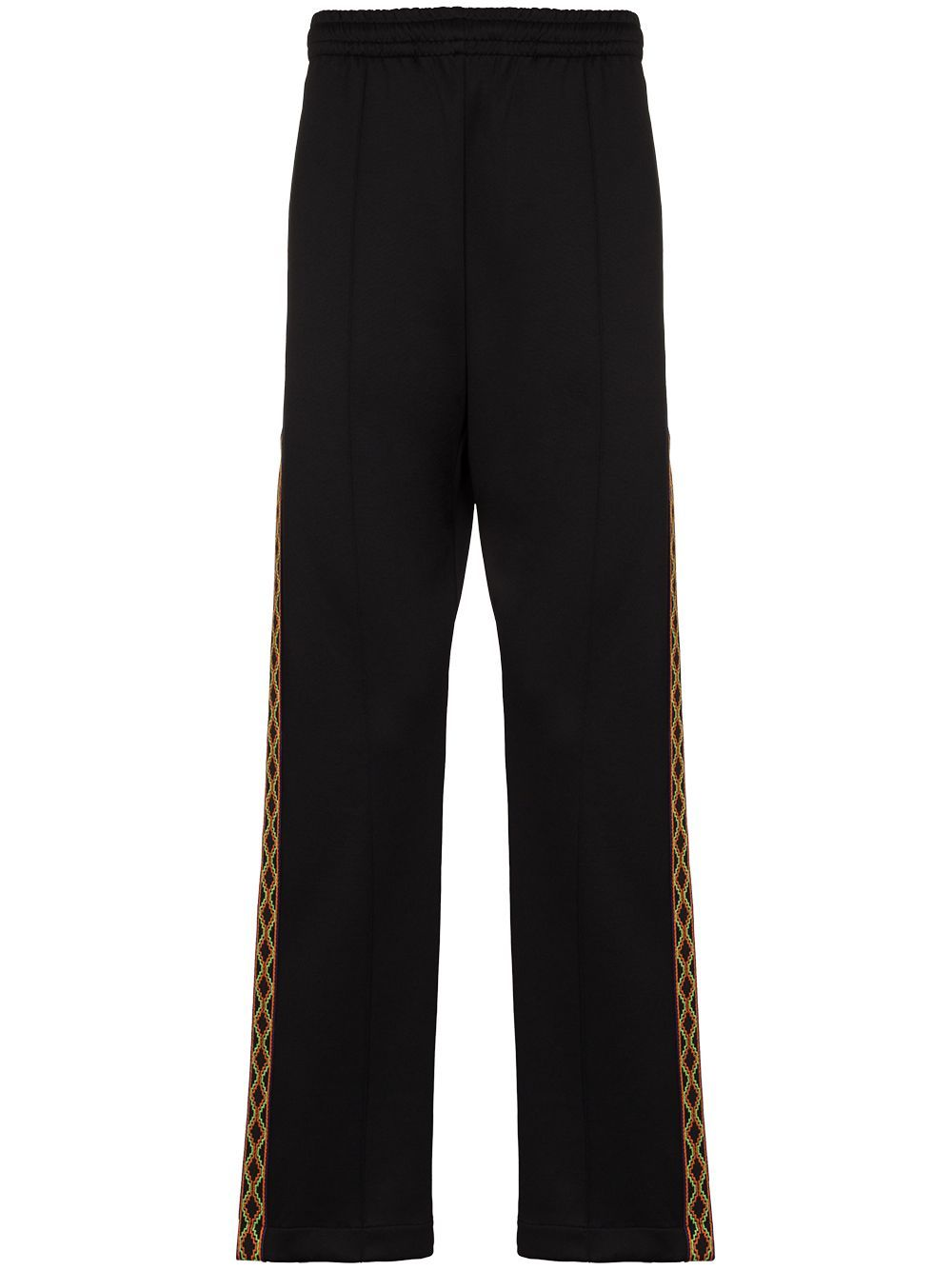 MARCELO BURLON Folk Tape Track Pants Black - Maison De Fashion