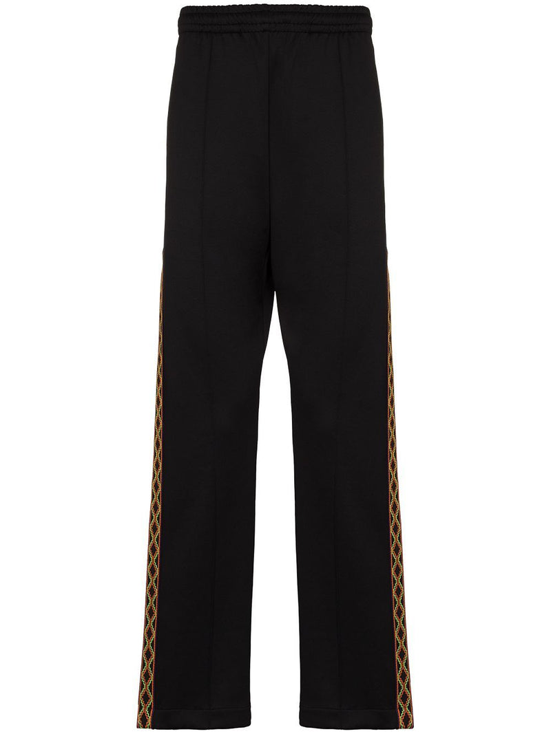 MARCELO BURLON Folk Tape Track Pants Black