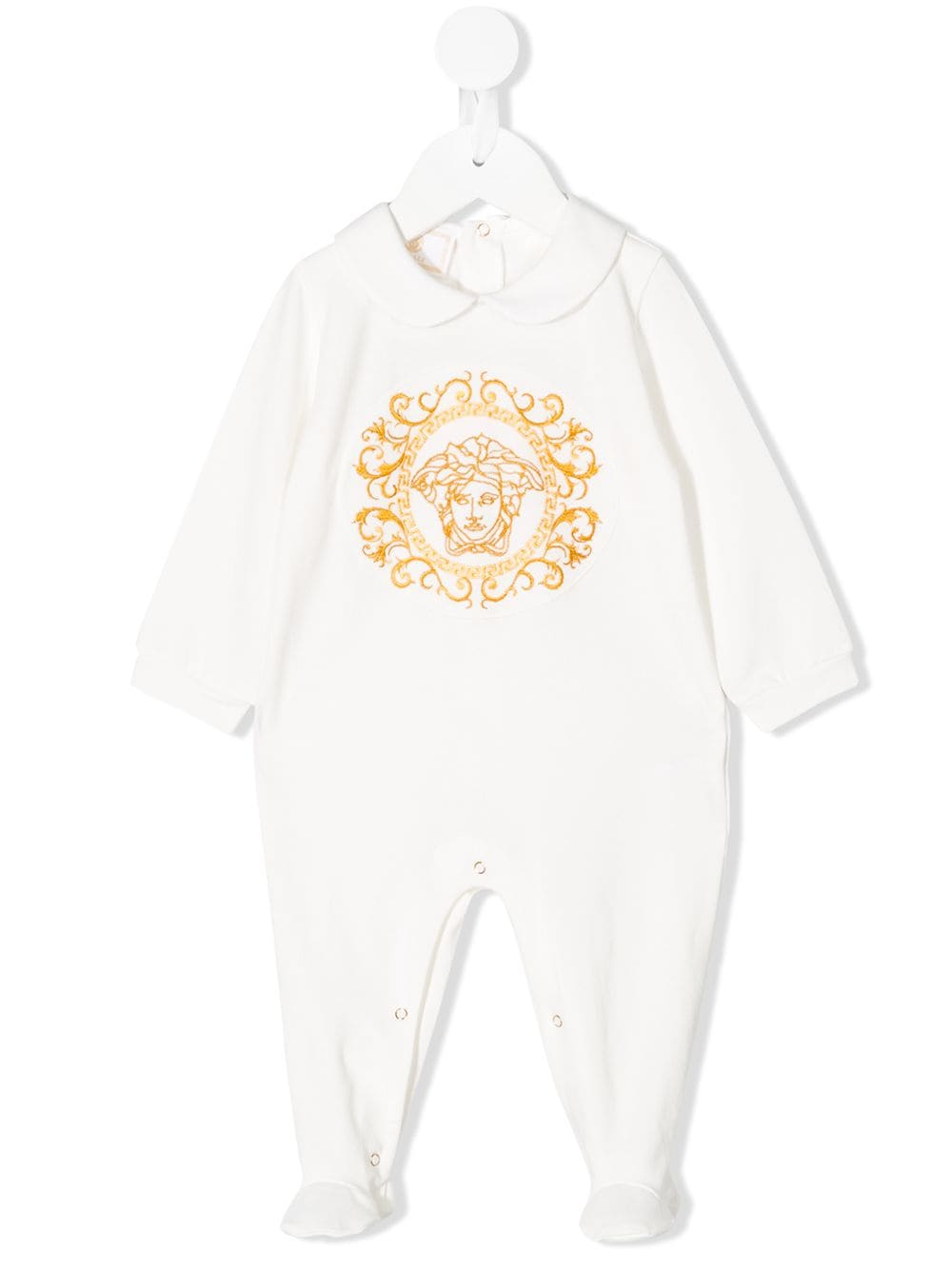 VERSACE KIDS long sleeve medusa logo bodysuit white - Maison De Fashion