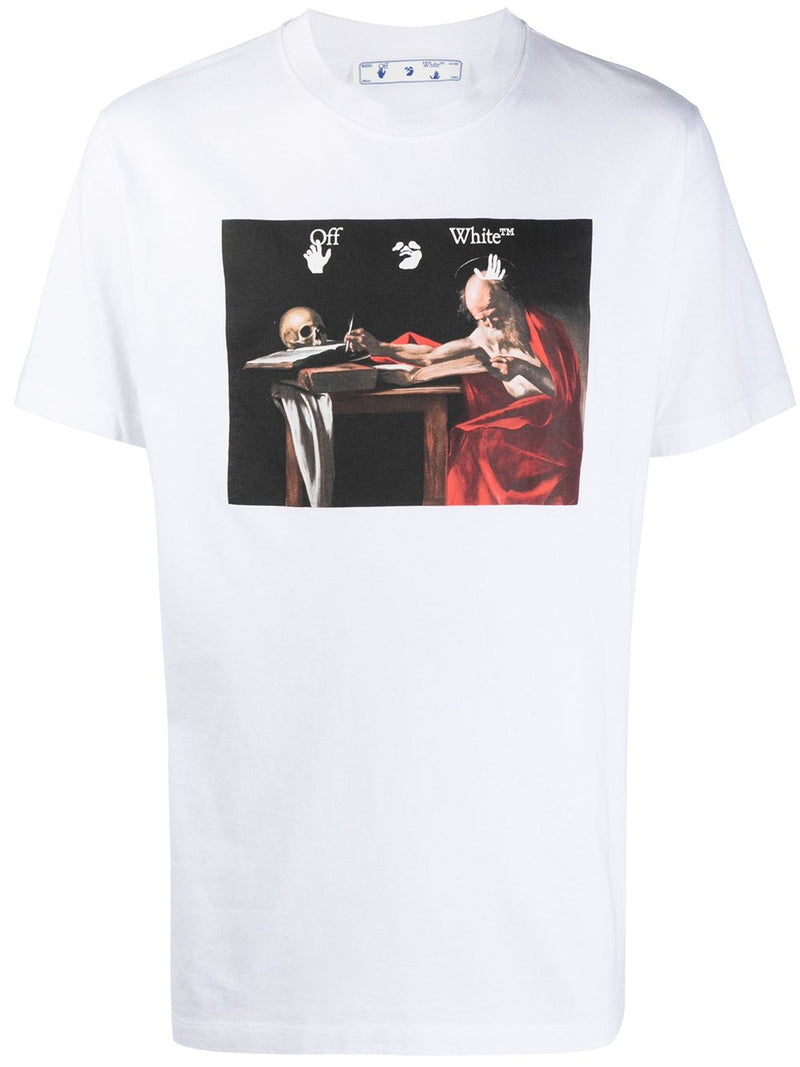 OFF-WHITE Caravaggio Print T-Shirt White/Red