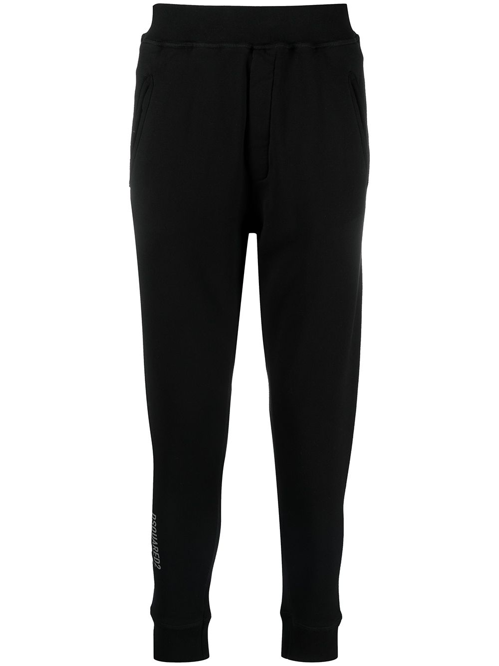 DSQUARED2 Reflective Icon Logo Track Pants Black