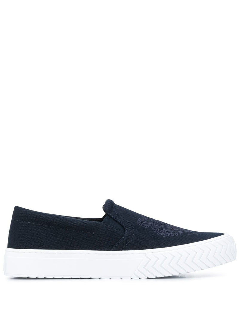 Kenzo Tiger Slip On Sneakers Navy