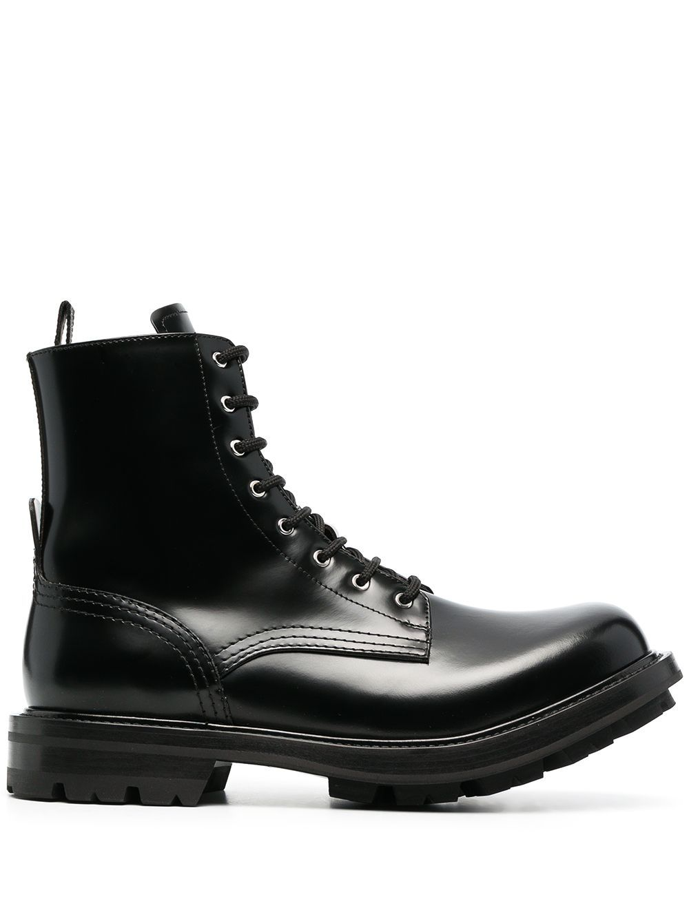 Alexander McQueen Lace Up Ankle Boots Black