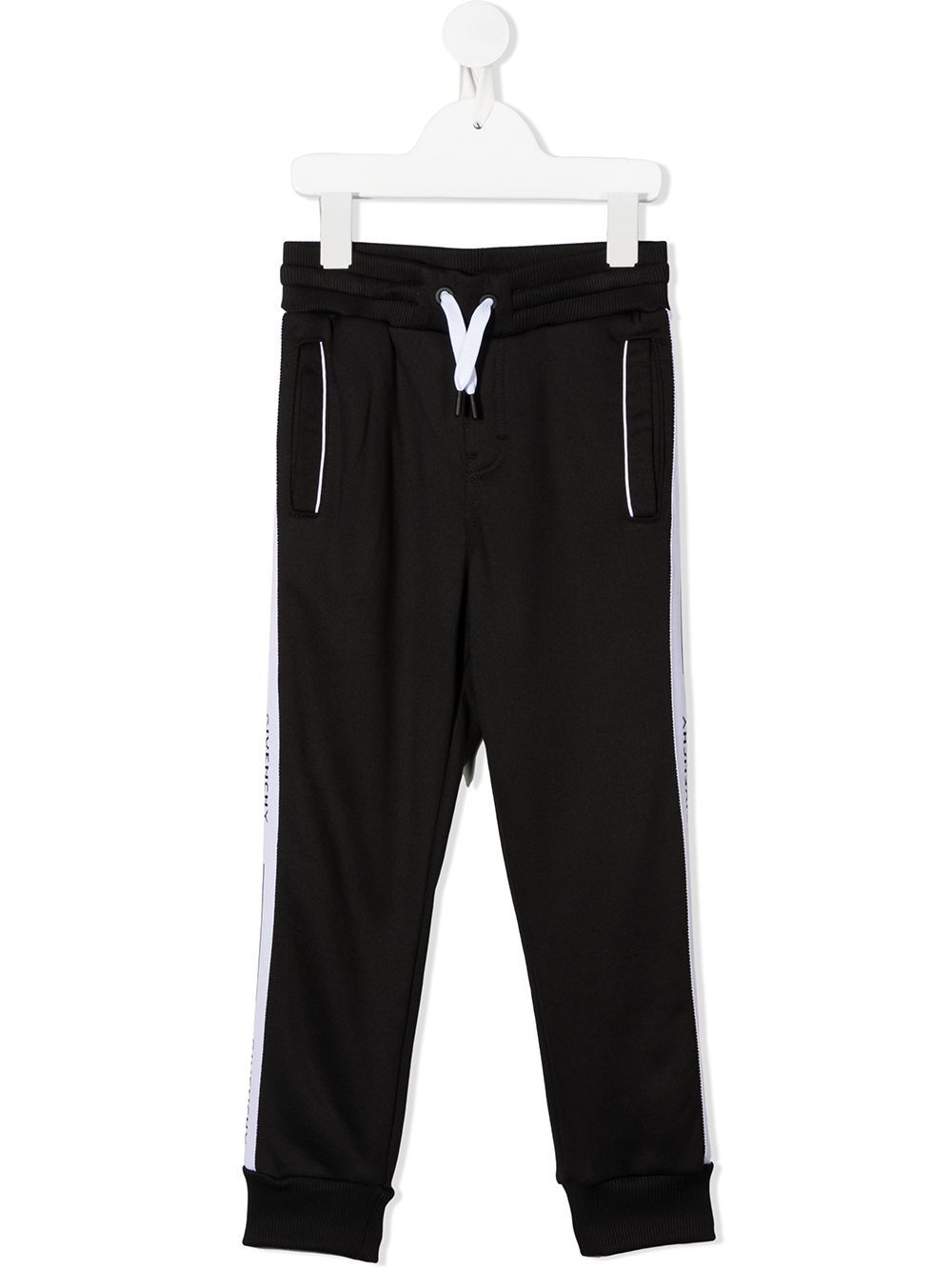 GIVENCHY KIDS Logo Sweatpants Black/White - Maison De Fashion