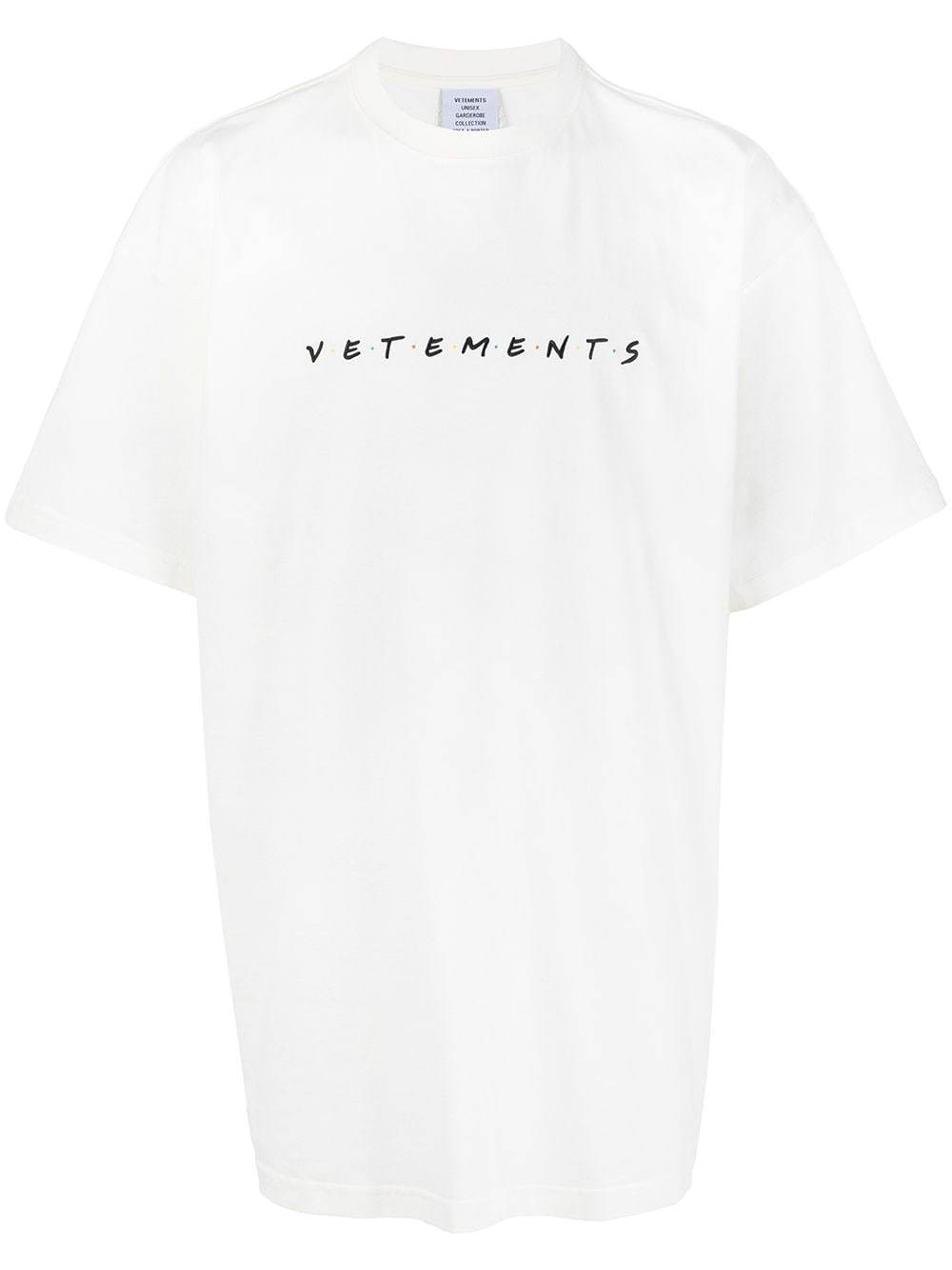 VETEMENTS Friendly Logo-Embroidered T-shirt White - Maison De Fashion