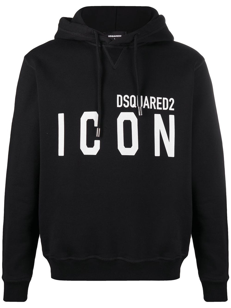 DSQUARED2 Icon Logo Hoodie Black/White