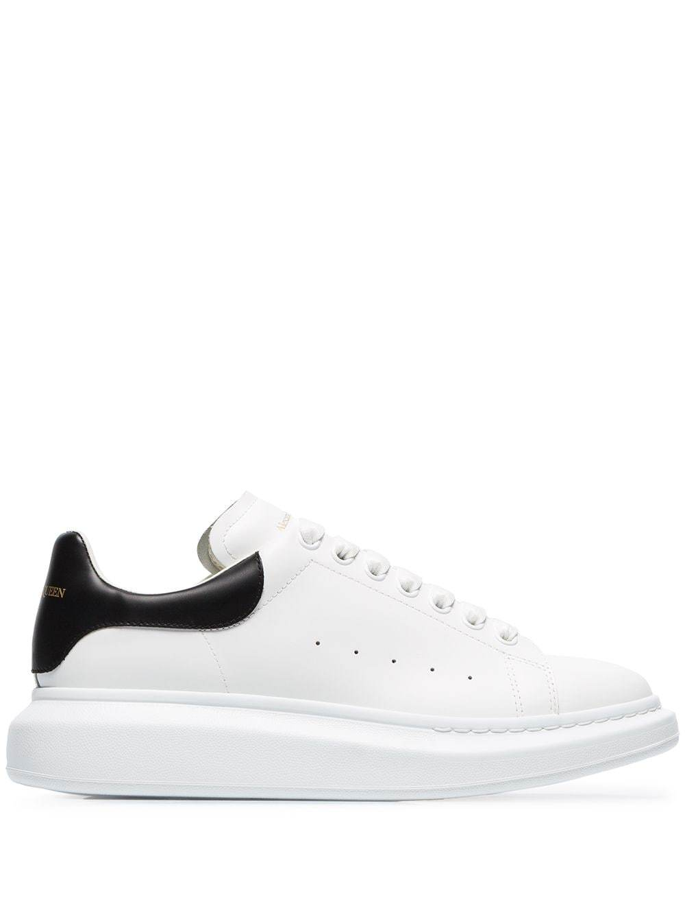 ALEXANDER MCQUEEN oversized sole sneakers white/black