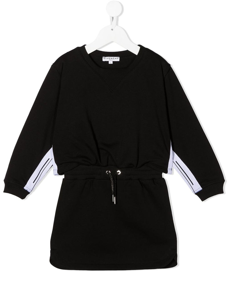 GIVENCHY KIDS Drawstring Waist Dress Black