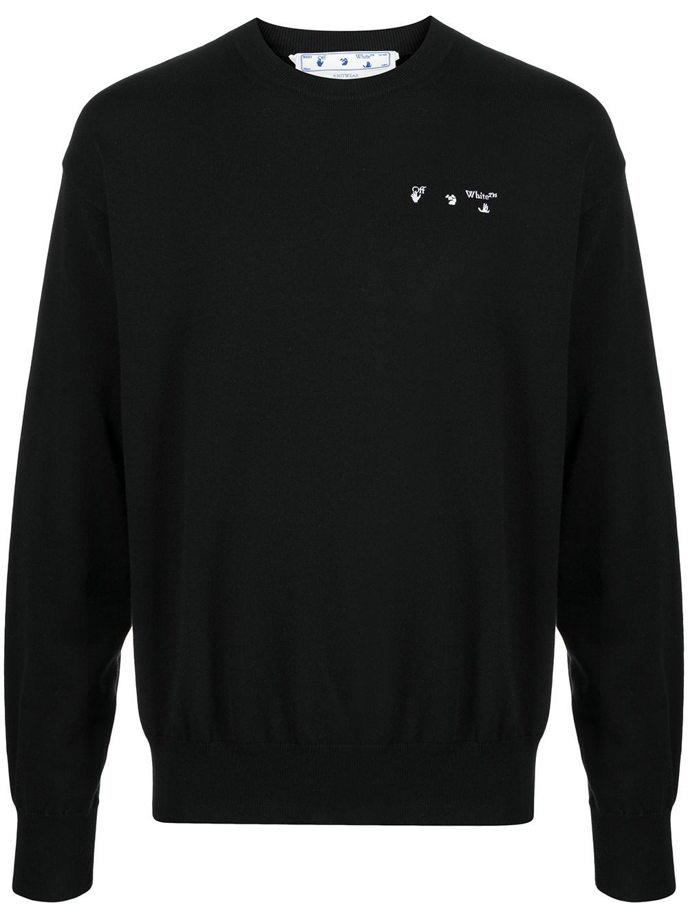 OFF-WHITE Logo Knitted Sweatshirt Black