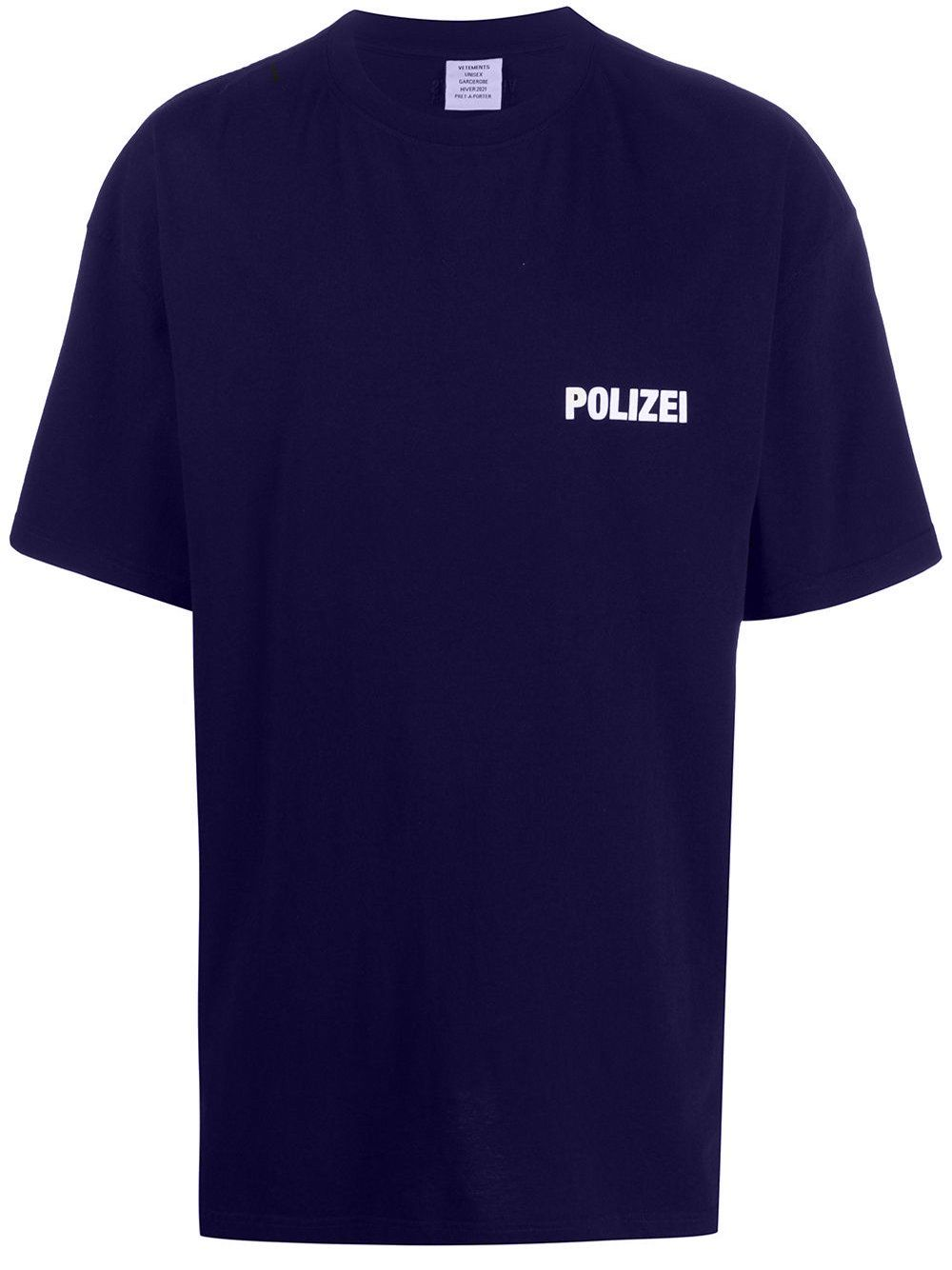 VETEMENTS Polizei T-Shirt Navy