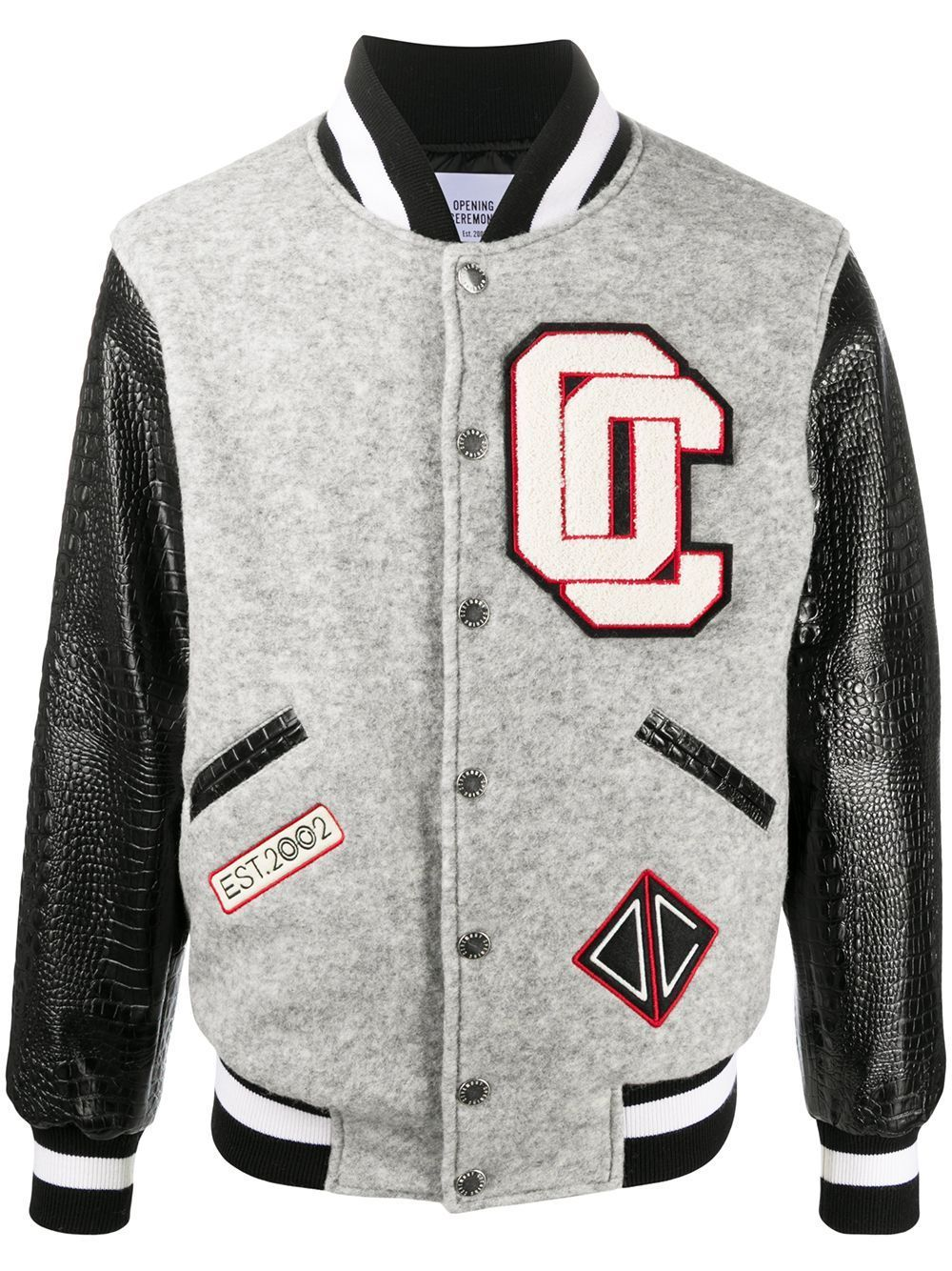 OPENING CEREMONY Varsity Jacket Grey