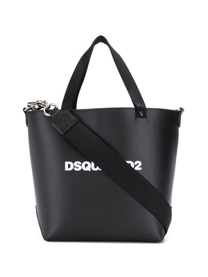 DSQUARED2 Logo Shopping Bag Black - Maison De Fashion