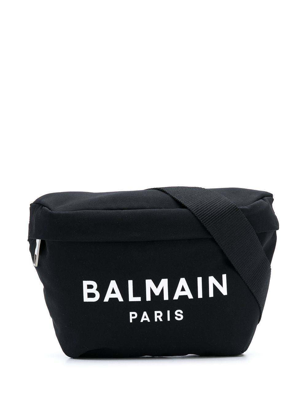 BALMAIN Logo Crossbody Bag Black/White